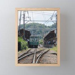 Kamakura Enoden Framed Mini Art Print