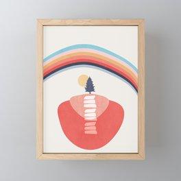 Modern shapes 6 Framed Mini Art Print