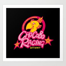Chocobo Racing Art Print