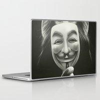 lion Laptop & iPad Skins featuring Anonymous by Dr. Lukas Brezak