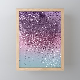 Unicorn Girls Glitter #6 #shiny #pastel #decor #art #society6 Framed Mini Art Print