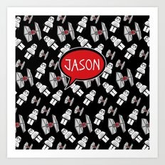 Personalized Tie Fighters Art Print