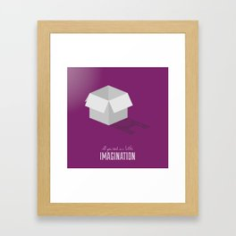 Never Forget to Play - Cardboard Box Framed Art Print