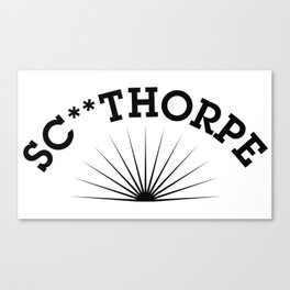 SC**THORPE (black) Canvas Print
