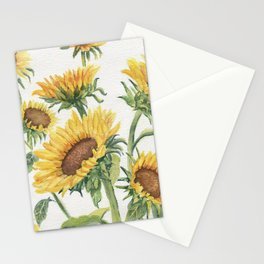 Blooming Sunflowers Stationery Cards