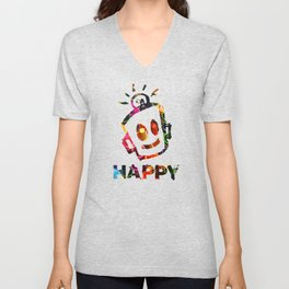 Crayon HAPPY Unisex V-Neck