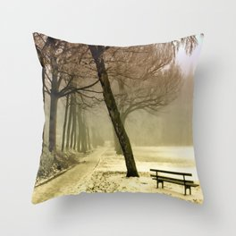 Winter Landscape Seasons Seasonal Snowy Throw Pillow
