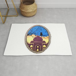 Indian cat view Rug