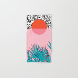 Whoa - palm sunrise southwest california palm beach sun city los angeles retro palm springs resort  Hand & Bath Towel