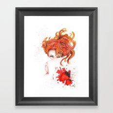 Peepin' Strawberries Framed Art Print