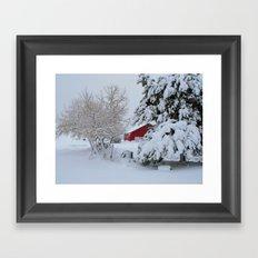 April Storm Framed Art Print
