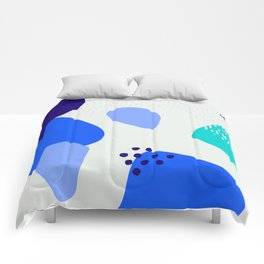 Blue abstract pattern Comforters