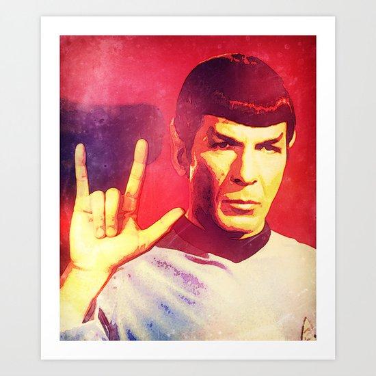Spock Rocks Art Print