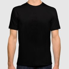 WALK HUMBLY - B & W SMALL Black Mens Fitted Tee