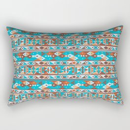 African Tribal - Ndebele Tribe Style Pattern Rectangular Pillow