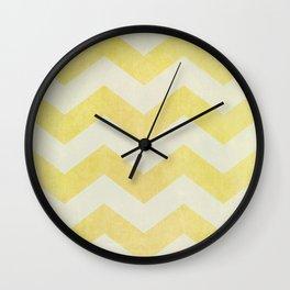 Sun-Kissed Chevron Wall Clock