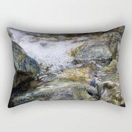 Water Color Rocks Rectangular Pillow