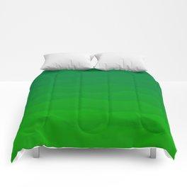 Acid Green Waves - Fresh Fun Greenery Comforters
