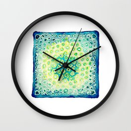 Under the Scope - Diatom - Teal Palette Wall Clock