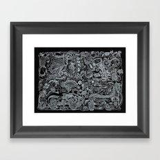 Ancient Figures II Framed Art Print