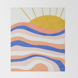 sunrise surf Throw Blanket
