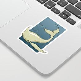 Alien White Whale Sticker