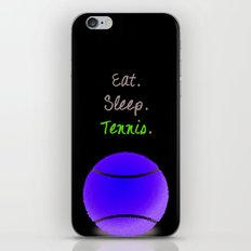 Eat. Sleep. Tennis.  (White with Pink) iPhone & iPod Skin