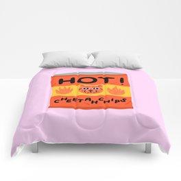 Hot Cheetah Chips Comforters