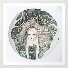 keyhole in the jungle Art Print