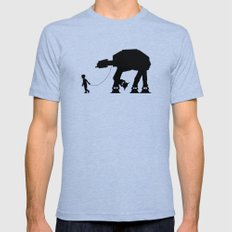 A Boy and His AT-AT Tri-Blue SMALL Mens Fitted Tee