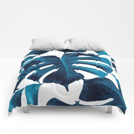 Tropical Monstera Leaves Dream #8 #tropical #decor #art #society6 Comforters