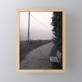 Another foggy morning Framed Mini Art Print