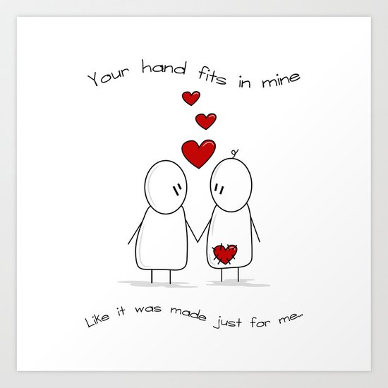 Hold My Hand  Art Print
