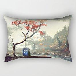 Tardis Stay With A Tree Rectangular Pillow