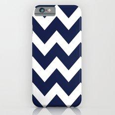 Chevron Navy Blue Slim Case iPhone 6
