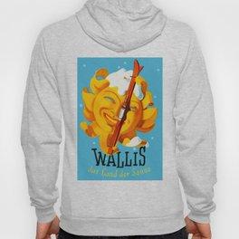 Wallis - Valais Switzerland - German Travel Poster Hoody