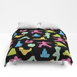 Rainbow Yoga Pattern Comforters