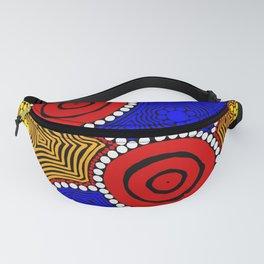 Authentic Aboriginal Art - Circles Fanny Pack
