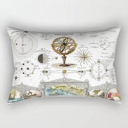 Sphere Armillaire - Astronomical and Cosmographical Chart Rectangular Pillow