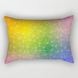 Triangulated Rainbow Dotted Pattern Rectangular Pillow