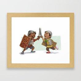 Swordfight! Framed Art Print