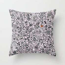 Good Time in Pink Throw Pillow