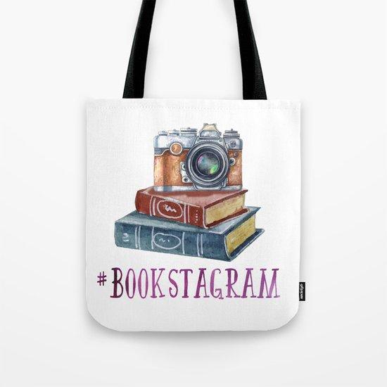 Watercolor Bookstagram Tote Bag