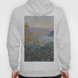 Flower Beds at Vetheuil by Claude Monet Hoody