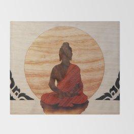Buddha marquetry Throw Blanket