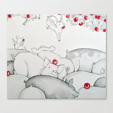 Flying Pigs Canvas Print