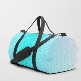 Purple Blue Black Ombre Hexagons Bi-lobe Contact binary Duffle Bag