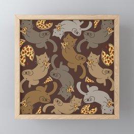 Pizza Cats Framed Mini Art Print