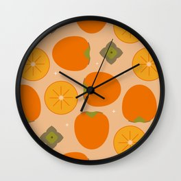 Kaki fruit Time! Wall Clock