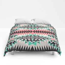 Tribal Beat Geo Pastel Comforters
